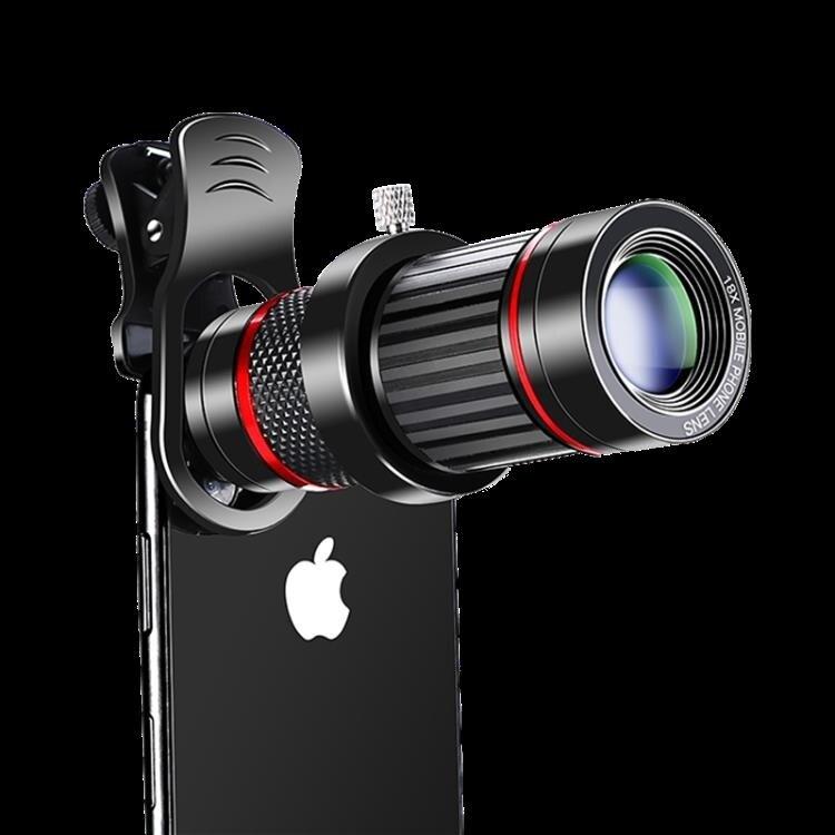 手機廣角鏡頭 手機長焦鏡頭18倍高清望遠鏡變焦抖音自拍廣角微距三合一套裝