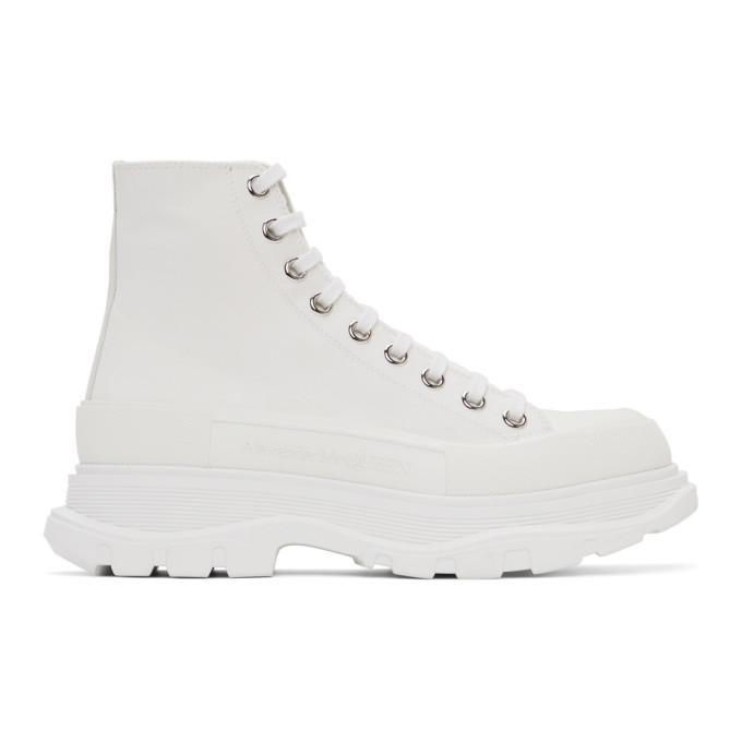 Alexander McQueen 白色 Tread Slick 踝靴