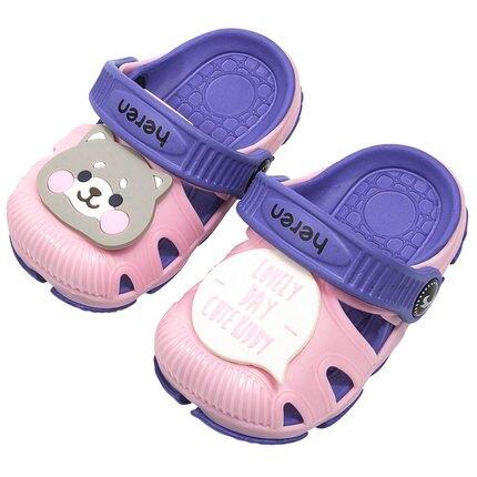 外穿兩穿小孩兒童卡通網紅防滑洞洞涼拖鞋1-3歲男寶超輕輕便軟底