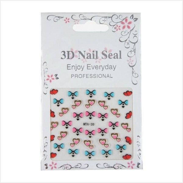 MEKO 3D Nail Seal 美甲貼 AC-047 / 隨機出貨恕不挑款/色