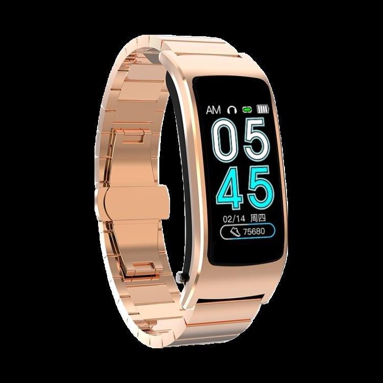 彩屏智慧手環藍芽耳機二合一分離式可通話監測多功能接打電話運動手錶 交換禮物