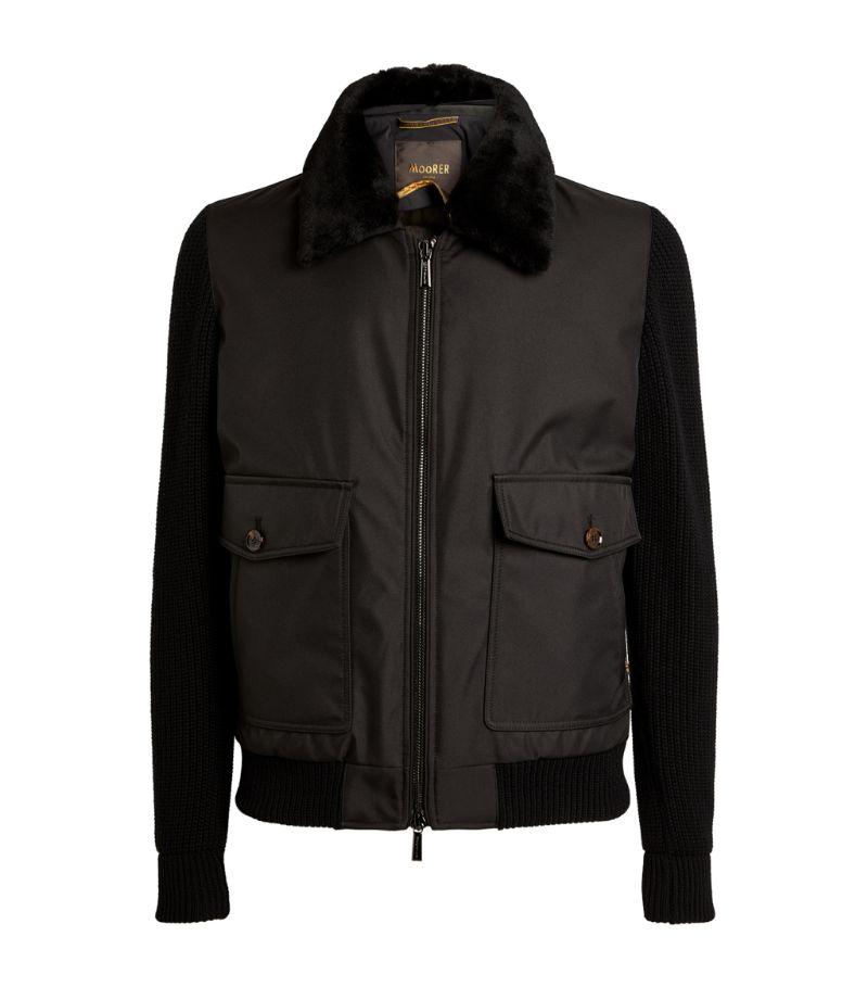Moorer Knitted Bomber Jacket