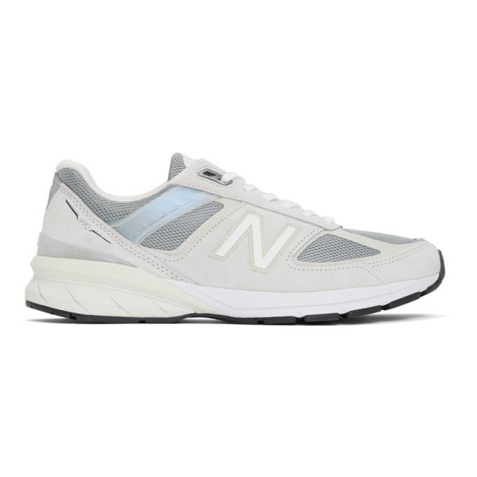 New Balance 灰色 M990v5 美产运动鞋