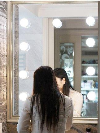 臥室宿舍家用吸盤鏡前小燈泡衛生間洗漱臺面盆化妝鏡子美顏補光燈