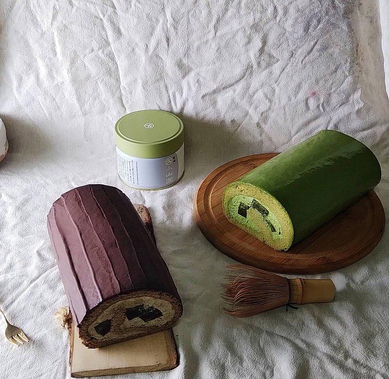 【免運】2捲-抹茶蕨餅生乳捲+焙茶蕨餅生乳捲