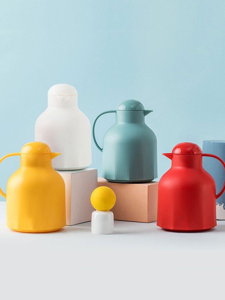玻璃內膽按壓式小型家用保溫熱水瓶學生宿舍1200ml熱水暖水壺暖壺