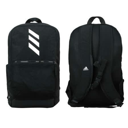 ADIDAS 大型後背包-雙肩包 旅行包 肩背包 愛迪達 25.5L 黑白 F