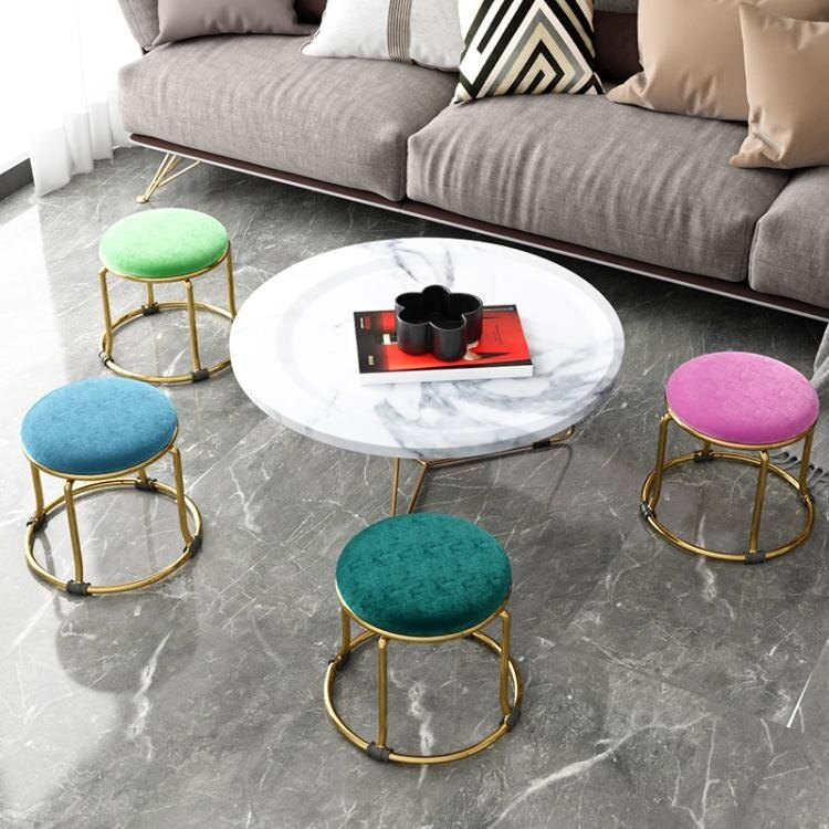 板凳 家用小椅子時尚換鞋凳圓凳成人沙發凳矮凳子創意小板凳輕奢 YYJ 交換禮物