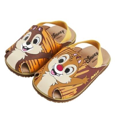 迪士尼童鞋 奇奇蒂蒂 不對稱護趾造型寶寶涼鞋-咖(柏睿鞋業)