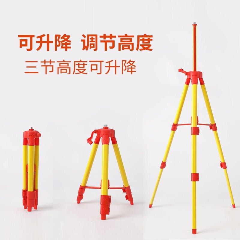 【免運】水平儀支架三腳架支撐桿鋁合金加厚紅外線激光水準儀三腳架