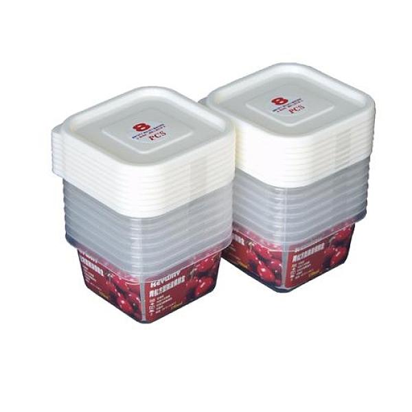 KEYWAY青松方型微波保鮮盒150ml*8入【愛買】