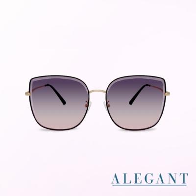 ALEGANT韓星愛用茉莉灰粉貓眼金框墨鏡│UV400太陽眼鏡│星河的小扇流螢