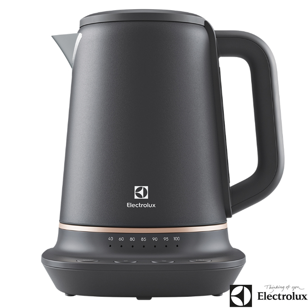 Electrolux伊萊克斯 Explore7 主廚系列1.7L不鏽鋼溫控電茶壺 快煮壺 E7EK1-60BP