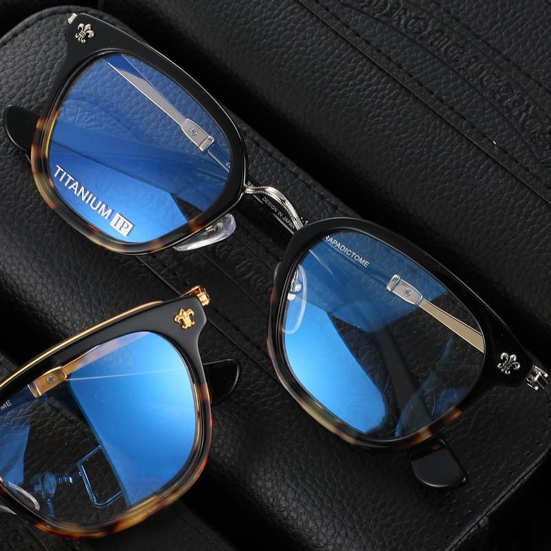 # 克羅心眼鏡框可配鏡片 近視超輕純鈦眼鏡架男復古眼睛框女全框