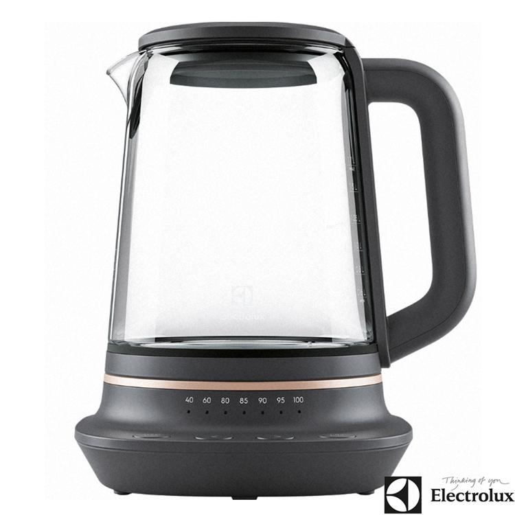 Electrolux伊萊克斯 Explore7 主廚系列1.7L多功能玻璃溫控電茶壺 E7GK1-73BP