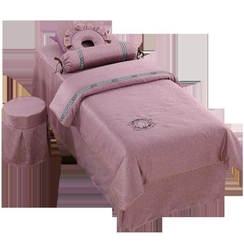 【現貨】【新款】美容床罩四件套高端北歐皮膚管理加厚床罩按摩美容院專用床套定做