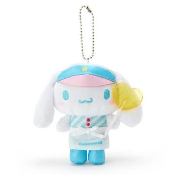 小禮堂 大耳狗 絨毛玩偶娃娃吊飾《藍白》掛飾.鑰匙圈.夢幻糖果店