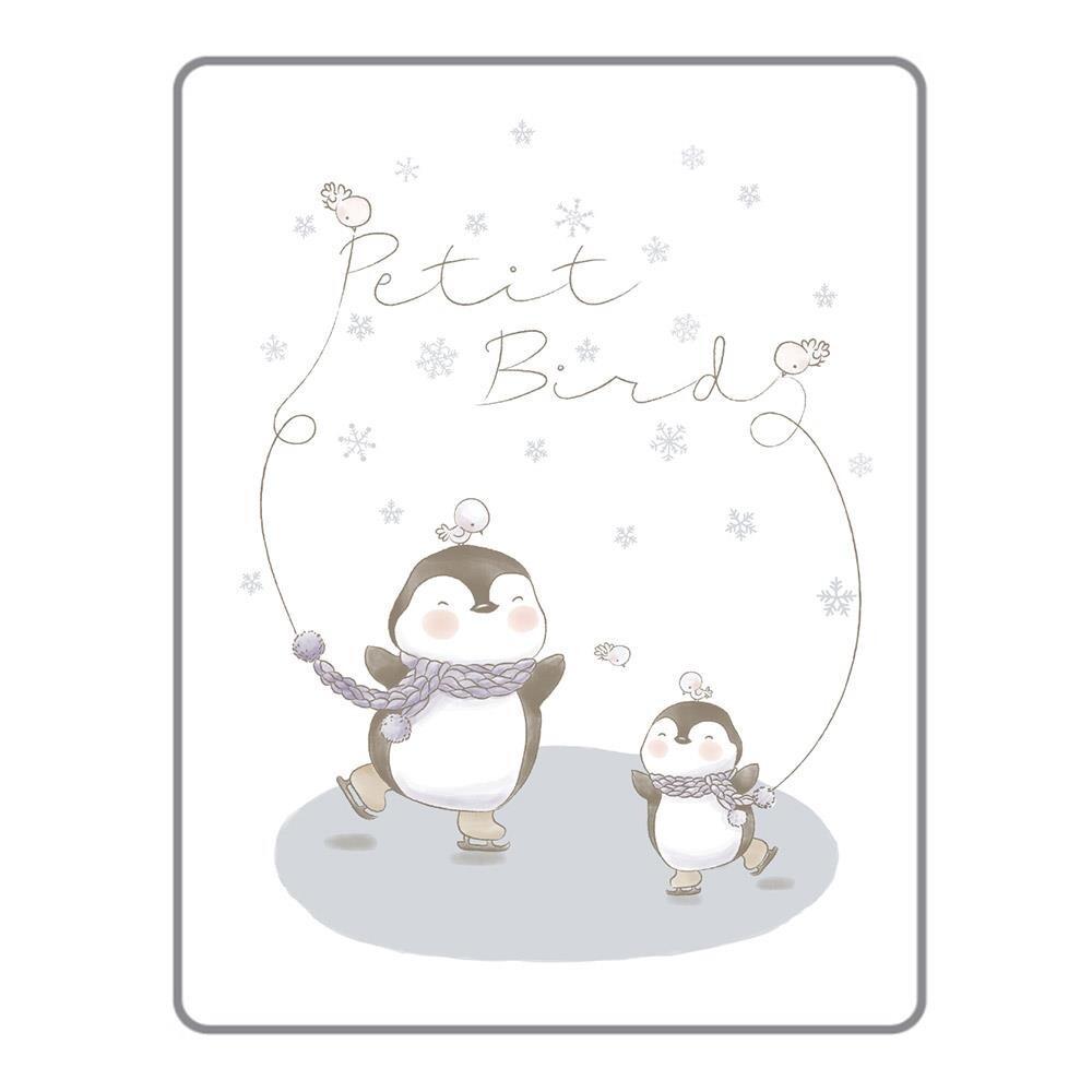 韓國 petit bird透氣竹纖抗菌防水尿布墊(小)-雪花企鵝