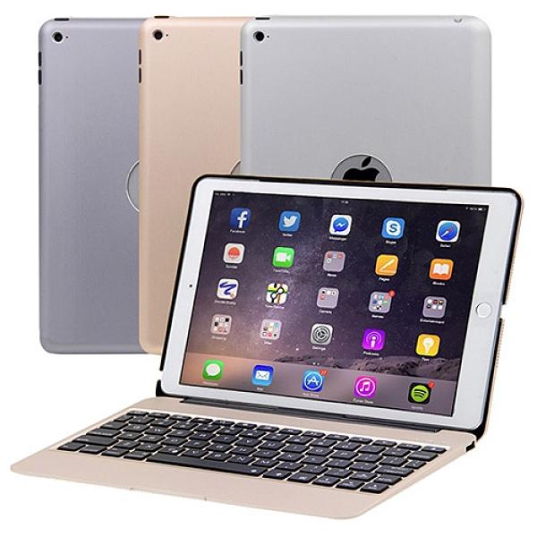 iPad Air2/Pro (9.7吋)專用超薄全鋁合金藍牙鍵盤筆電盒(內建2800mA行動電源)