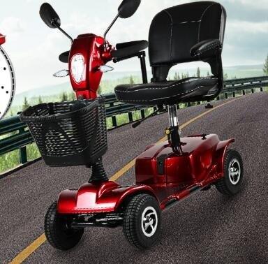 【快速出貨】電動車 新升級英洛華老年人代步車四輪雙人殘疾電瓶車老人助力電動車智慧 聖誕交換禮物