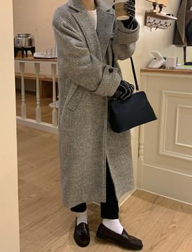 韓國空運 - Aberdeen Raglan Herringbone Wool Coat 大衣外套