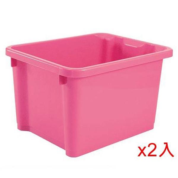 2件超值組樹德SHUTER 萬用置物盒NHA-2328-甜心粉紅(28*22.5*17cm)【愛買】