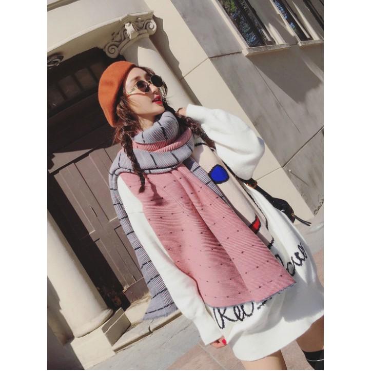 特價熱銷款 保暖圍巾 流蘇壓褶造型圍巾 混羊絨保暖圍巾 輕柔暖披肩圍巾 波點雙面配色圍巾