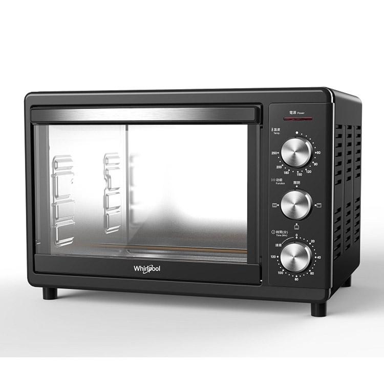 【Whirlpool惠而浦】18公升/18L不鏽鋼機械式電烤箱 WTOM181B