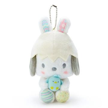 小禮堂 帕恰狗 絨毛玩偶娃娃吊飾《綠白》掛飾.鑰匙圈.復活節