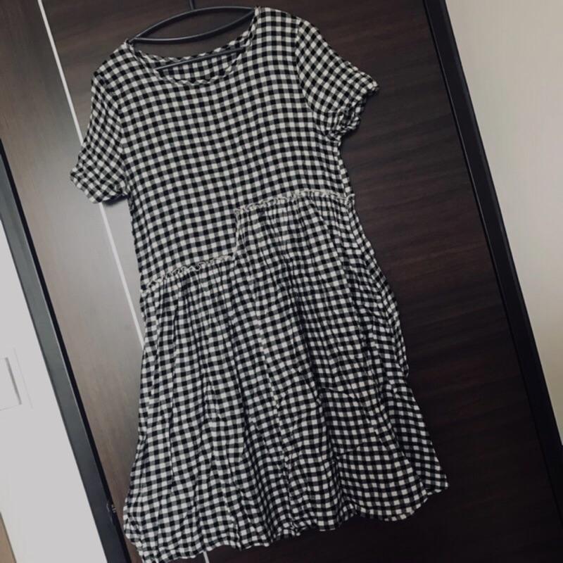 [離奇媽咪的小市集] 黑白格子洋裝