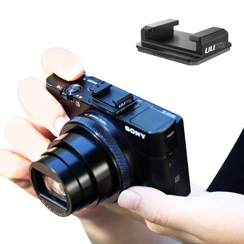 Uurig R046 冷靴板 3m 磁帶底座擴展麥克風補光燈通用尼康佳能索尼數碼單反相機配件
