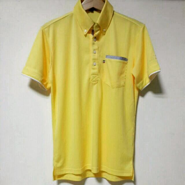 日本帶回 夏日款亮麗鵝黃色 男士休閒polo衫