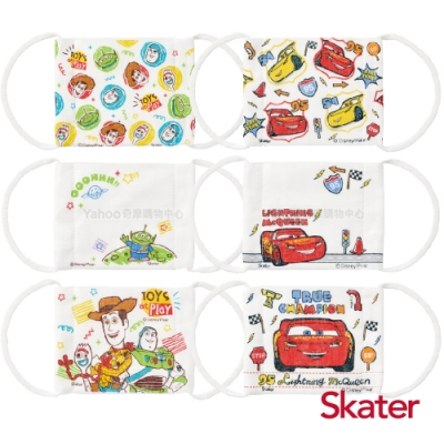 Skater 兒童用紗布口罩-玩具總動員+閃電麥昆