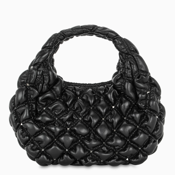 Valentino Garavani Black small Spikeme hobo bag
