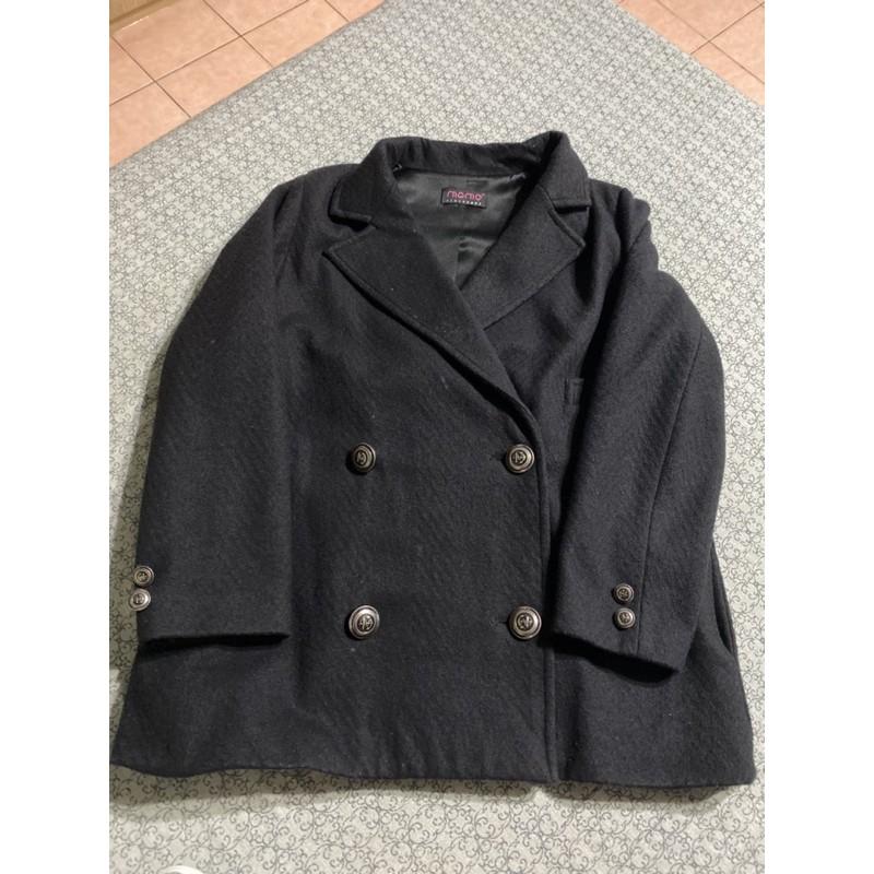 二手 小桃娘momo黑色大衣外套