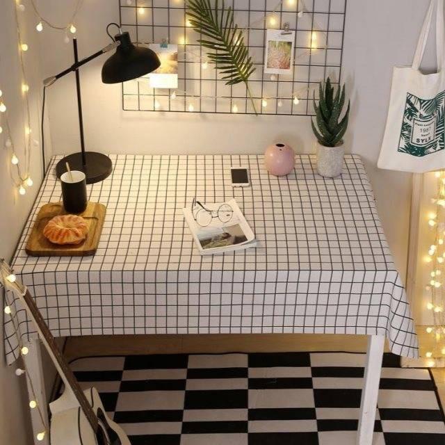 小桌布ins風簡約北歐網紅臥室化妝桌學生書桌宿舍少女心抖音同款