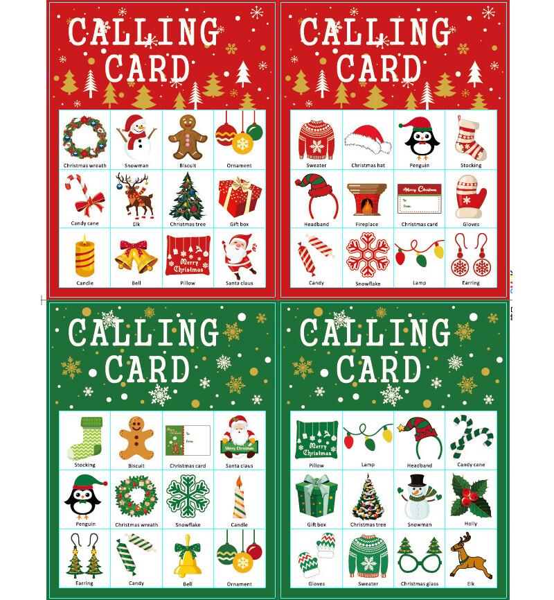聖誕饗宴耶誕節bingo game派對遊戲卡片m1503alex shop