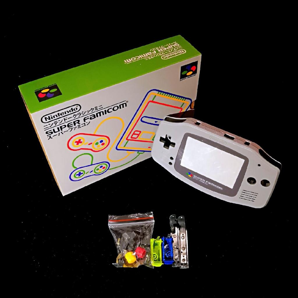 任天堂GBA游戲機包裝盒彩色機殼GAMEBOY SFC限定保護收納盒外殼