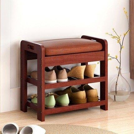 實木換鞋凳鞋櫃 簡約現代穿鞋凳創意沙發凳多功能矮凳可坐儲物凳   快速出貨