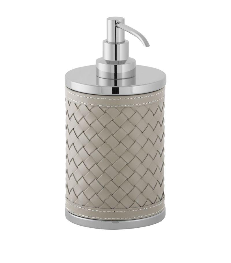 Riviere Leather Woven Soap Dispenser