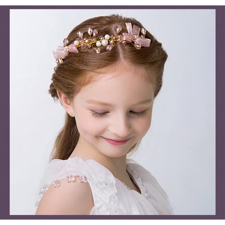 韓版蕾絲金粉大花朵嬰兒童髮帶寶寶鳥巢髮飾嬰兒拍照攝影頭飾韓版女童兒童 紅色 蝴蝶結髮圈髮箍髮飾頭飾花童禮服【E-099】