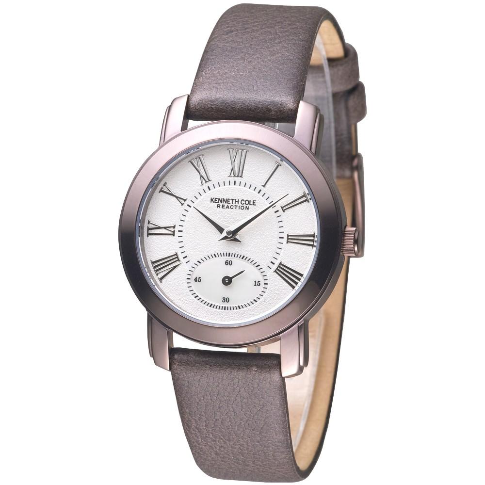 KENNETH COLE 手錶 KC2453 古典美人時尚女錶-白面/茶色帶 保固一年 廠商直送
