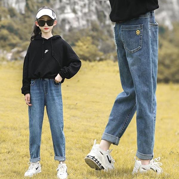 女童牛仔褲秋冬2020春秋新款長褲兒童中大童寬鬆加絨褲子洋氣外穿  【夏日新品】