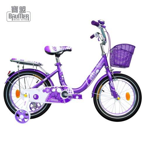 寶盟BAUMER 16吋親子鹿腳踏車 (紫羅蘭)
