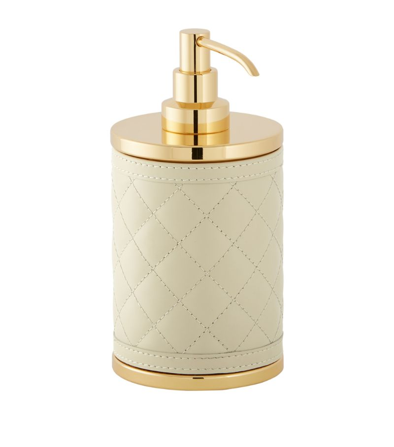 Riviere Quilted Leather Soap Dispenser
