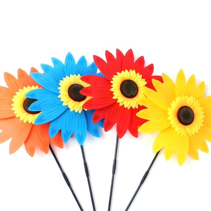 39公分 向日葵風車 太陽花風車 插地風車 花朵造型風車 戶外休閒 花園裝飾yf12256