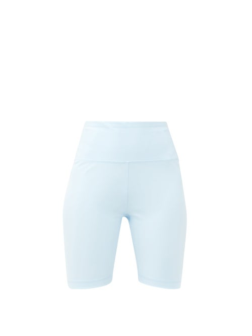 Wardrobe. nyc - Release 02 High-rise Jersey Bike Shorts - Womens - Light Blue