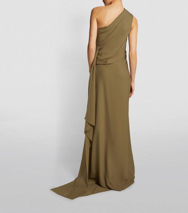 Roland Mouret One-Shoulder Taishan Gown