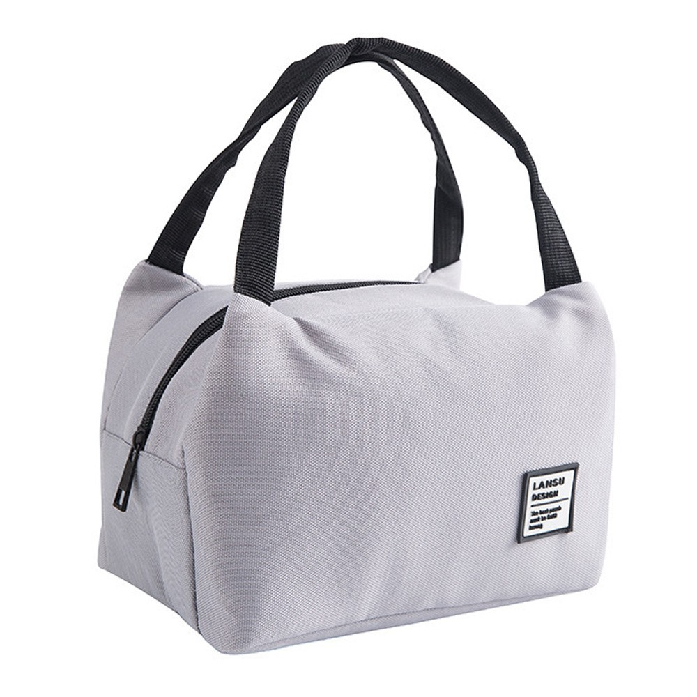 典雅時尚手提拉鍊保溫袋/保冷袋/便當袋