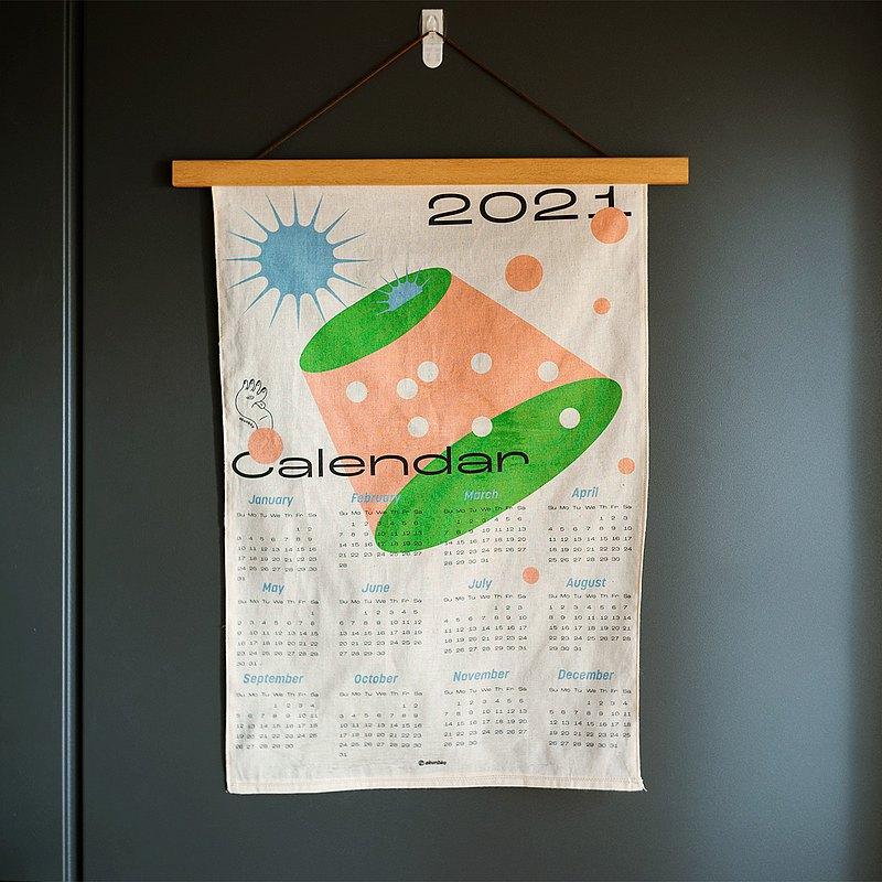 2021年曆手工掛布裝飾ー壞物去去走ーA君B子設計